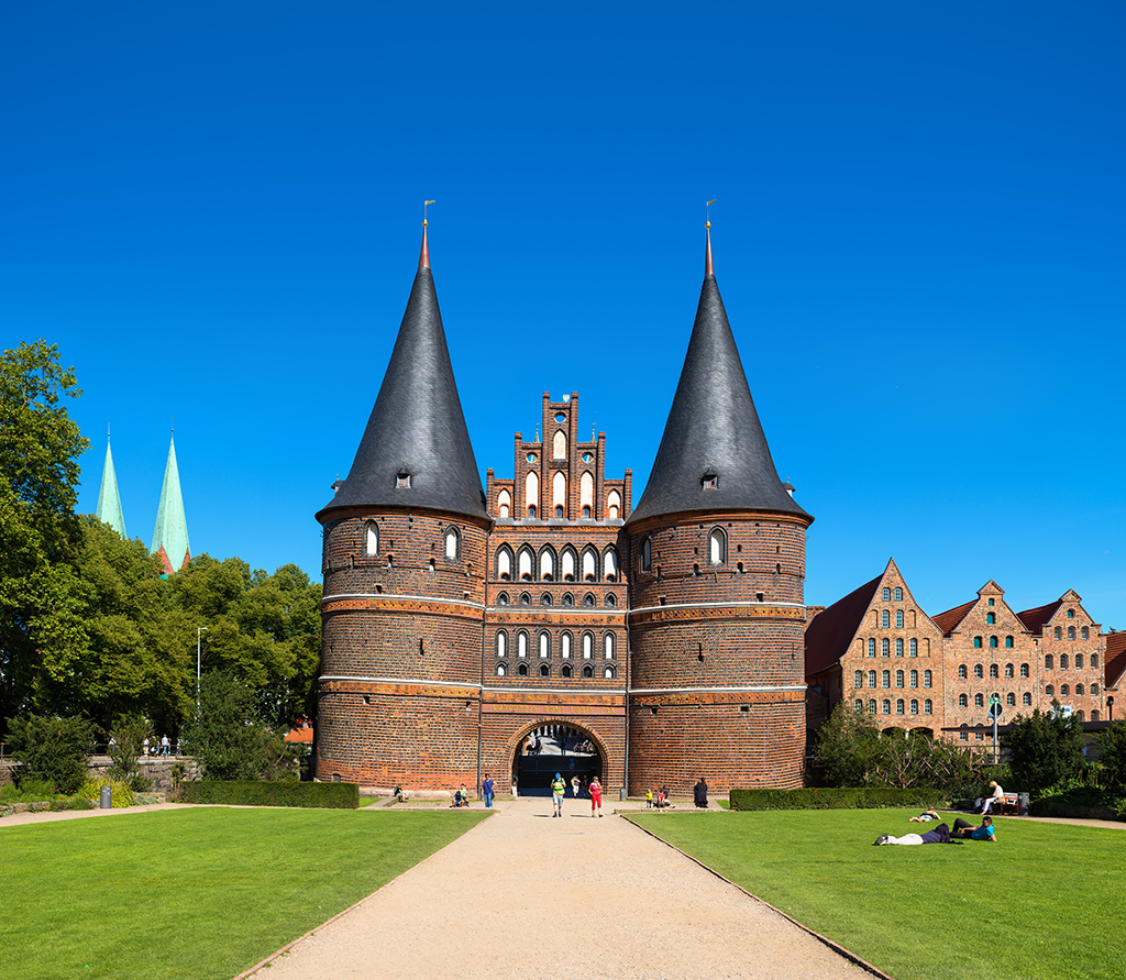 Holstentor in Lübeck Frontseite
